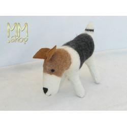 Felt animal model Terrier Lady (medium)