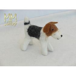 Felt animal model Terrier puppy (small)