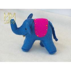Felt animals model Elephant with bell