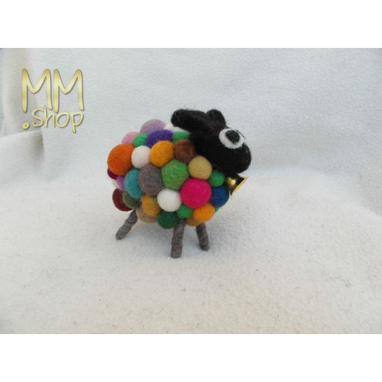 Felt animal model Sheep Polkadot multi coloured