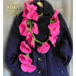 Felt Flower Garland pink