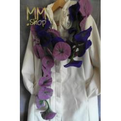 Felt Flower Garland purple