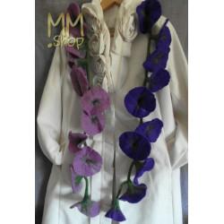 Felt Flower Garland light purple