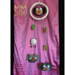 mobile owl grey/brown