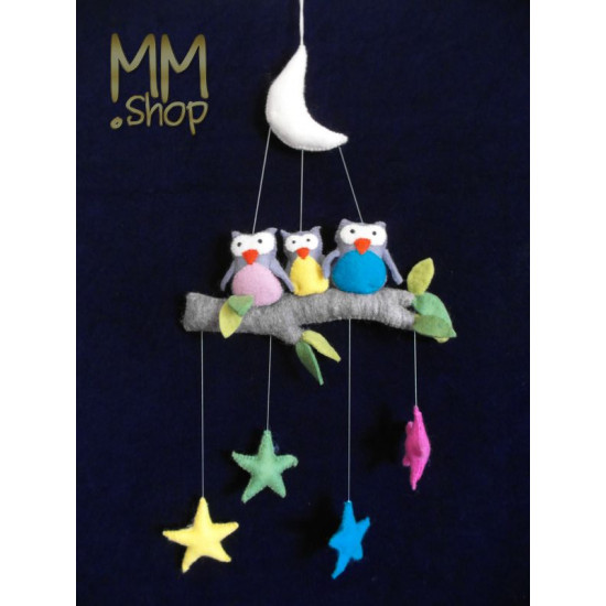 Mobile Owls - moon - stars