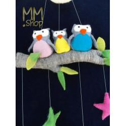 mobile owls-moon-stars