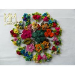 Felt hairclip flower