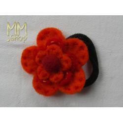 Felt hairband double flower