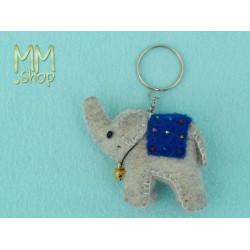 Felt Keyring Model Elephant