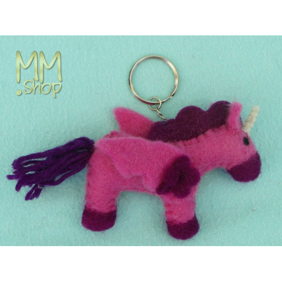 Felt keyring model Unicorn S