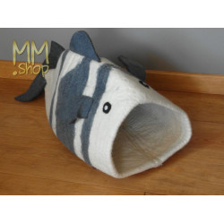 felt storage basket model whale
