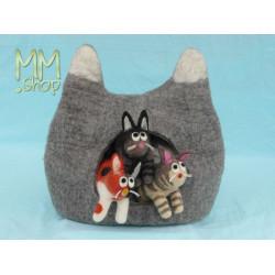 felt storage basket model cat