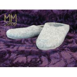 Felt slippers light grey
