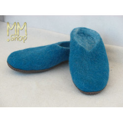 Felt slipper peacoque blue