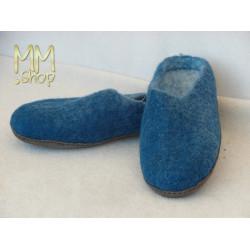 Slippers felt royal Blue
