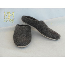felt slipper dark grey