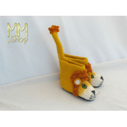 Felt Slipper Model Lion