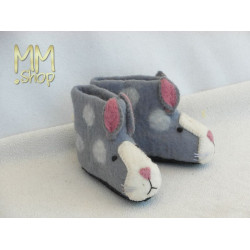Felt slipper model rabbit