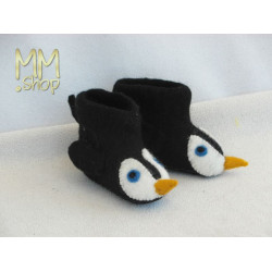 Felt slipper model pinguin