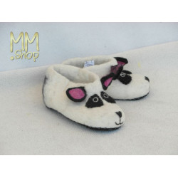 Felt slipper model panda bear