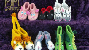 Nice, warm decorative slippers for children