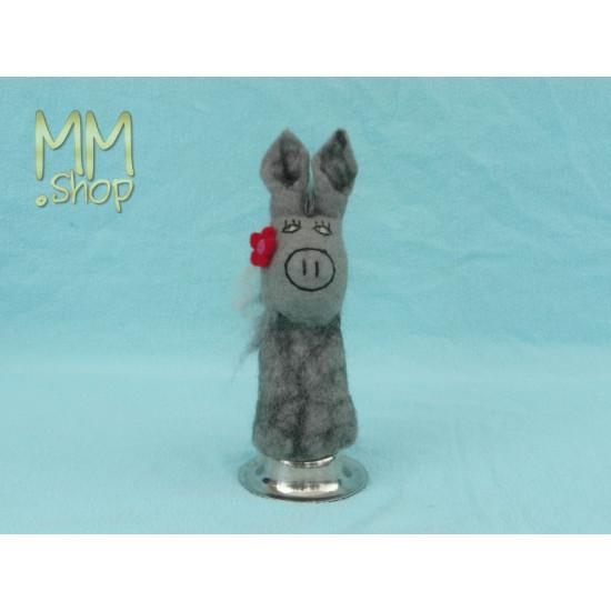 Felt eggwarmer model donkey