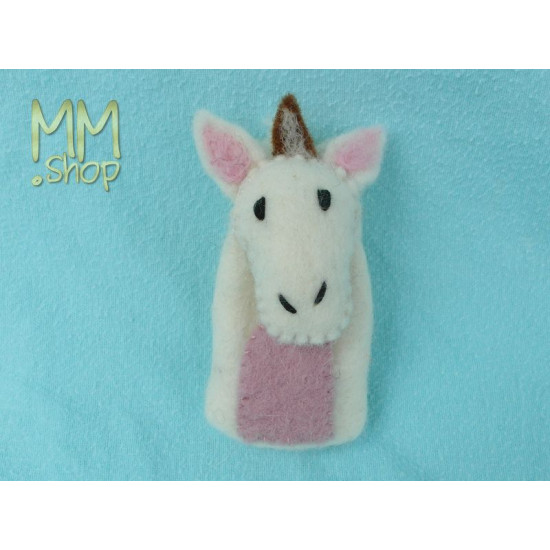 Felt fingerpuppet model Goat