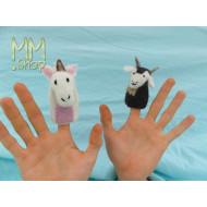 Felt fingerpuppets model Gaby and Eddy