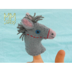 Felt fingerpuppet model Donkey