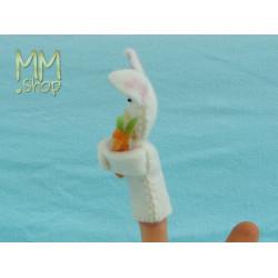 Felt fingerpuppet model Rabbit