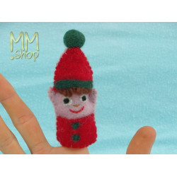 Felt fingerpuppet model Goblin