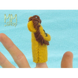 Felt Finger Puppet model Lion