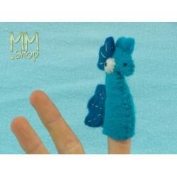 Felt fingerpuppet model Seahorse
