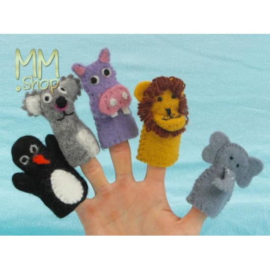 Felt fingerpuppet Elephant