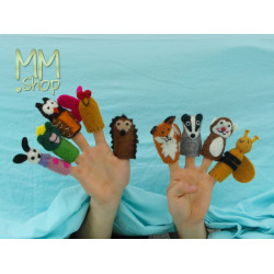 Felt fingerpuppet model Forest Animals