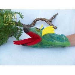 Felt handpuppet model Dragon
