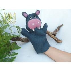 Felt Handpuppet Hippopotamus
