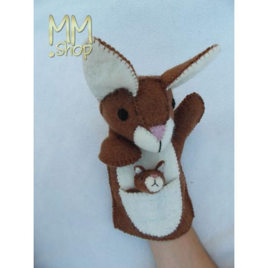 Felt handpuppet model Kangeroo