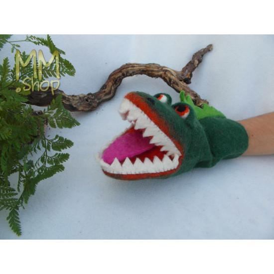 Felt handpuppet Crocodile