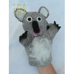 Felt animal model Koala Bear