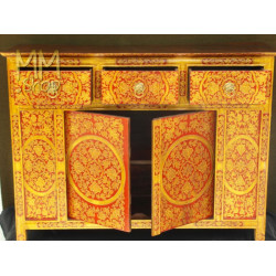 Wooden Cabinet Two Doors Red