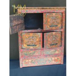 Wooden Cabinet Dragon Dark Red