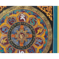 mandala in frame