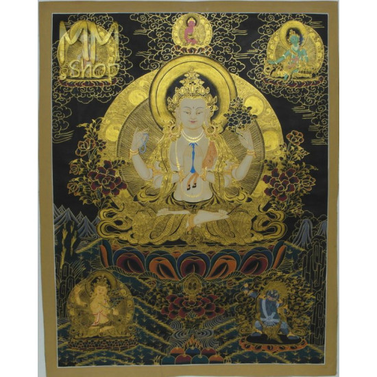 Thangka Chenrezig,  Avalokiteshvara