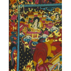 Thangka Brocade Wheel of Live and Vajrapani
