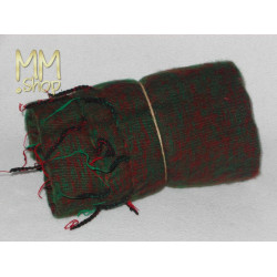shawl wool green with red