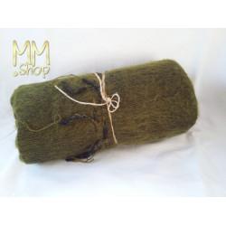 shawl wool moss green