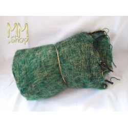 shawl wool dark green with yellow