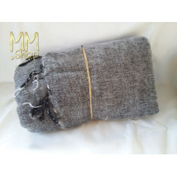 shawl wool light gray