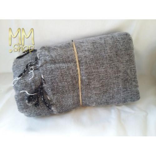 shawl wool light gray